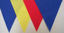 FOOTBALL BUNTING BLUE YELLOW RED FABRIC FLAGS PARTY DECORATION 2mt or more GIFT