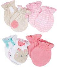 GERBER NEWBORN BABY GIRL'S 4-Pack Cotton Mittens - BUNNIES - Pink - NWT