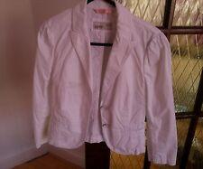 ESPRIT women's white short jacket sz UK8