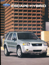 2006 Ford Escape Hybrid 28-page Original Car Sales Brochure Catalog