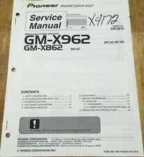 PIONEER GM-X962 GM-X862 XR UC POWER AMPLIFIER ORIGINAL SERVICE REPAIR MANUAL