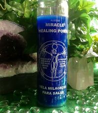 7 Day Candle, Miracle Healing Empowerment Spell Candle, Blue, Pagan Wicca,