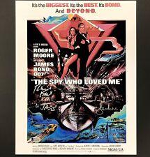 Richard Kiel ROGER MOORE Signed James Bond Movie Poster #005/007 Beckett BAS COA