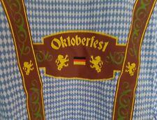 OKTOBERFEST O zapft is Herren T-Shirt Tracht Wiesn Hosenträger Gr. XXL blauweiss