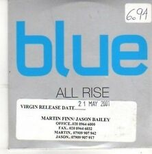 (BZ335) Blue, All Rise - 2001 DJ CD