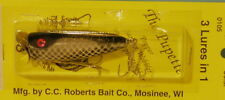 C.C. Roberts - Pupette Model 105 - Natural Sucker - Musky Lure - NEW! MPN 0105