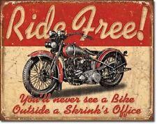 Vintage Replica Tin Metal Sign Indian motorcycle ride harley davidson bike 1699