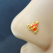 Nose Stud Nose Piercing Indian Nose Ring Indian Nose Stud Gold Nose Stud Orange