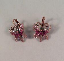 Kirks Folly Butterfly Lever Back Earrings Rose Gold NWOT