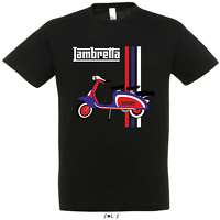 Lambretta Scooter Vespa Motor Bike Retro Mod Sca Printed T Shirt 3 Colours New
