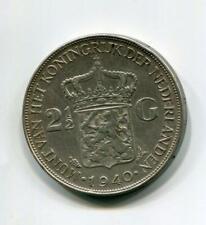 NETHERLANDS 1940 2 1/2 GULDEN (07) SCARCE