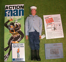 Action man 40th boxed action sailor peints en marron cheveux dur mains (gi joe)