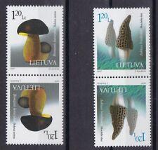 Litauen 1997 postfrisch Kehrdruck MiNr. 649-650 Steinpilz  Hohe Morchel