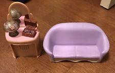Loving Family Dollhouse VANITY Lamp LIGHTS & Music Box & Sofa Couch