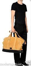 SUPER BEAUTIFUL !!! Kris Van Assche MEN LARGE Yellow Tan Suede  Duffle Bag
