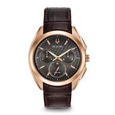 Reloj De Cuarzo curva para Hombre Bulova 97A124 Colección Oro Rosa