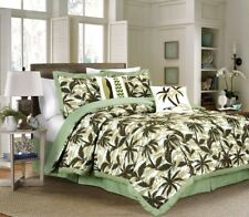 Chezmoi Collection 6pc Tropical Palm Tree Camouflage Comforter Set King, Green