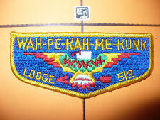 OA Wah Pe Kah Me Kunk Lodge 512,S-4b,1960s,T-Bird Flap,21,128,222,308,Indiana,IN