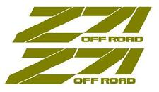 Z71 OFF ROAD Bedside Decals,  Chevy, Chevrolet, GMC, Pair, GOLD color