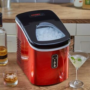 Cooks Professional 2.2L Automatic Ice Maker - Red.  Grade C Refurbished