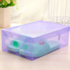 1/5pc Home Plastic Clear Shoes Boot Box Foldable Storage Colour Drawer Organizer
