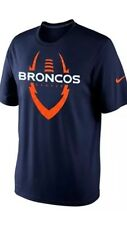 Denver Broncos Nike Legend Icon T-Shirt- Blue- Size Large - Retail $32. -Last 1