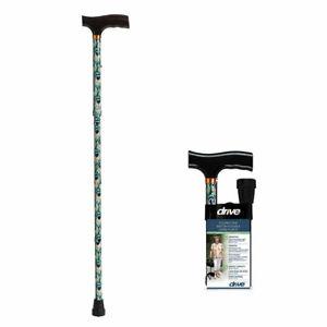 Drive Medical Lightweight Adjustable Folding Cane T Handle Peacock