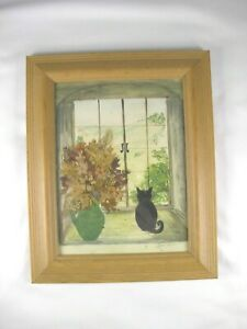 """Vintage English Signed ...""""Sylvia Summers""""...Mixed Media Picture"""