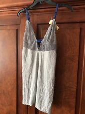 Love Haus By Beach Bunny Cami Lace And Viscose Gray And Blue Top Large