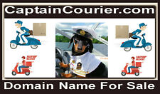 Captain Courier .com Comic Fun Kids Domain Name 4 Sale Deliver Boxes Parcels URL