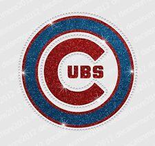 MLB - Chicago Cubs - Bling - Iron-on Glitter Vinyl & Rhinestone Transfer