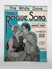 Sheet Music - The White Dove - The Rogue Song - Franz Lehar - Vintage