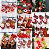 Christmas Stocking Sock Santa Claus Candy Gift Bag Xmas Tree Hanging Decor M&C