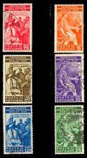 Vatican City 1935 JUDICIAL CONGRESS SET USED #41-46 (5c Unused)