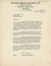 1928 Stalker Mfg. Co. Letterhead English Saddlery Horse Bits Stirrups Spurs Dogs