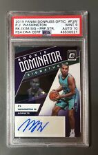 2019-20 Donruss Optic Rookie Dominator PJ Washington Jr. AUTO /29 PSA 9 Auto 10