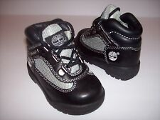 New TIMBERLAND Baby boys black leather ankle hiking boots Child Sz 5.5