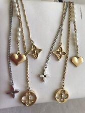 Extra Long Louis Vuitton 18k Two Tone Pearl Dangling earrings