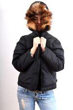 Geox Parka Coat Jacket Fur Collar Goose Down 12 Years Ladies XS Nice