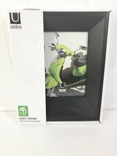 """UMBRA 5x7"""" SHIFT Picture Photo Frame Black Stained Wood Modern Heavy"""