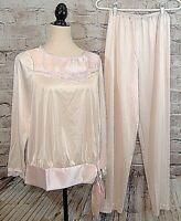 Lorraine Womens Pajamas Size S Lace Trim Vintage USA-Nwt