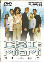 AFM53 - DVD CSI:MIAMI TEMPORADA UNO EPISODIOS 1.1-1.12