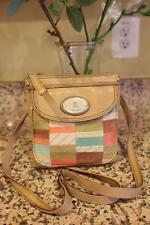 Fossil Maddox PW Mini Handbag Bright Patchwork Crossbody (PU700