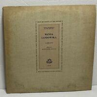 Wanda Landowska, Scarlatti – Twenty Harpsichord Sonatas: LP 1961 (Classical)