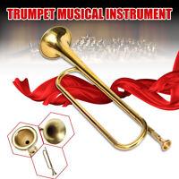 Bambino Musical Dorato Tromba Corno Strumento Militare Scuola Principiante