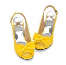 Sz35-43 Ladies Shoes Peep Toe Bowknot Kitten Heels Slingbacks Buckle Sandals New