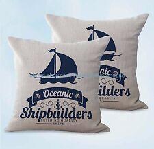 US SELLER, 2pcs shipbuilders boat beach cushion cover home decor items cheap