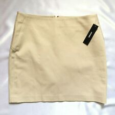 New With Tags DKNY Beige Cotton Stretch Mini Pencil Skirt 6US 10UK Y2K 90s Vtg