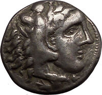 Ancient Celtic Silver Tetradrachm Coin as Greek King Alexander the Great i57630