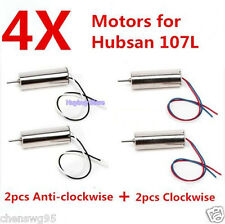 4pcs Motor for Hubsan X4 H107 H107L RC Quadcopter 7mm engine parts blades drone